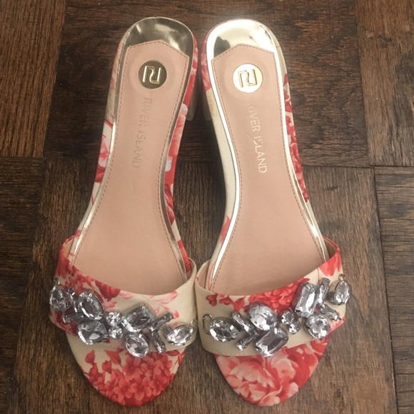 River Island Shoes - River Island Jewelry Floral Sandals